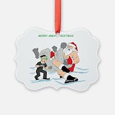MMA Santa Vs Snowmonster Ornament