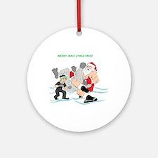 MMA Santa Vs Snowmonster Ornament (Round)