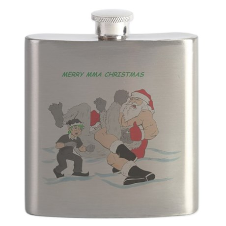 MMA Santa Vs Snowmonster Flask