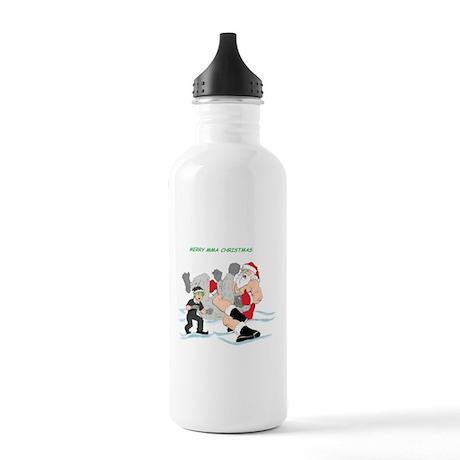 MMA Santa Vs Snowmonster Stainless Water Bottle 1.
