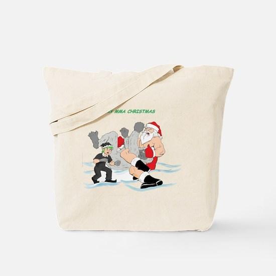 MMA Santa Vs Snowmonster Tote Bag