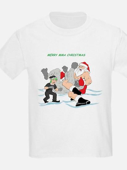 MMA Santa Vs Snowmonster T-Shirt