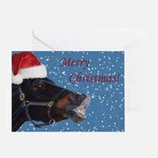 Fun Christmas Horse Greeting Card