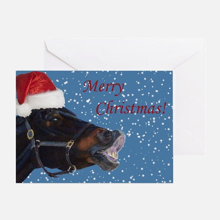 Fun Christmas Horse Greeting Card