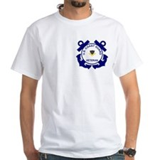 White Coast Guard Veteran Shirt (PO2)