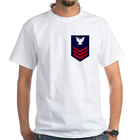 White Coast Guard Veteran Shirt (PO1)