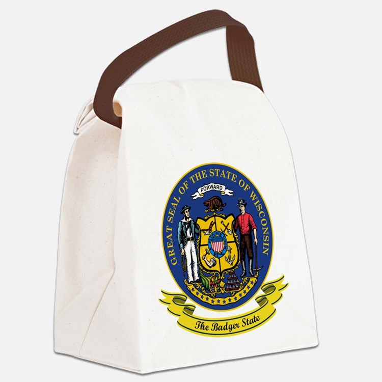 Wisconsin Seal.png Canvas Lunch Bag