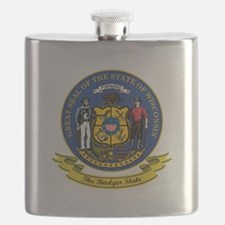 Wisconsin Seal.png Flask