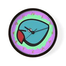 Anime Blue Indian Ringneck Clock