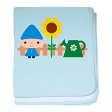 Gnome in the Garden baby blanket