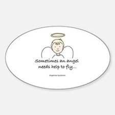 AS Boy Blonde Hair Oval Decal