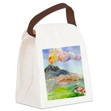 Sicilian Mt. Etna Canvas Lunch Bag