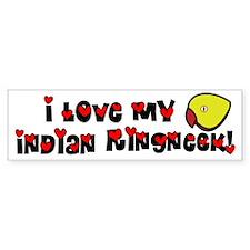 Anime Lutino Indian Ringneck Bumper Bumper Sticker