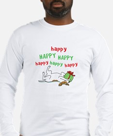 Happy Holiday Jack Russell Long Sleeve T-Shirt