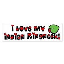 Anime Indian Ringneck Bumper Bumper Sticker