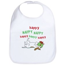 Happy Holiday Jack Russell Bib