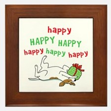 Happy Holiday Jack Russell Framed Tile