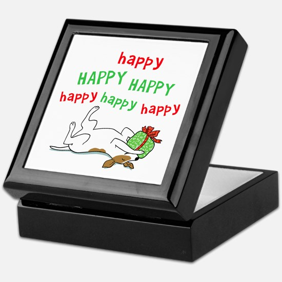 Happy Holiday Jack Russell Keepsake Box