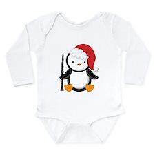 Clarinet Christmas Penguin Long Sleeve Infant Body