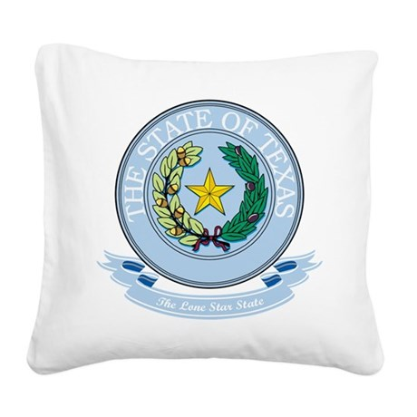 Texas Seal.png Square Canvas Pillow