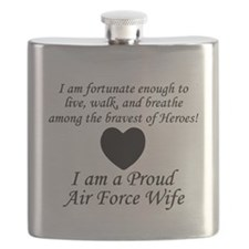 Fortunate Proud AF Wife.png Flask