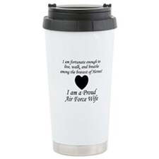 Fortunate Proud AF Wife.png Travel Mug