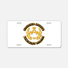 USMM - Engineer Officer Aluminum License Plate