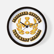 USMM - Engineer Officer Wall Clock