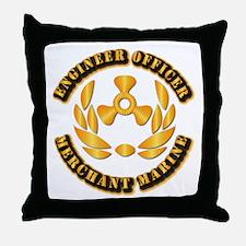USMM - Engineer Officer Throw Pillow