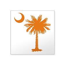 SC Palmetto Crescent (2) orange.png Square Sticker