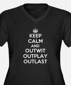 Keep Calm and Outwit, Outplay, Outlast Women's Plu