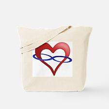 Infinite Love Heart Tote Bag