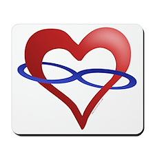 Infinite Love Heart Mousepad