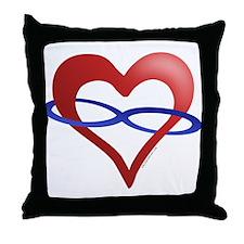 Infinite Love Heart Throw Pillow