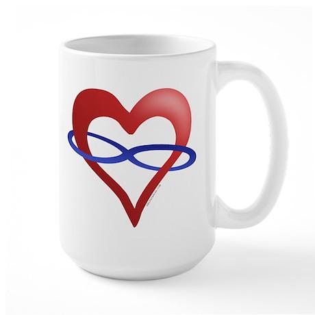 Infinite Love Heart Large Mug