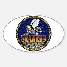 US Navy Seabees Lava Glow Decal