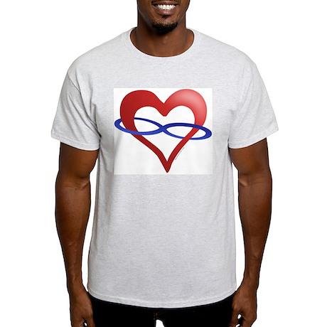 Infinite Love Heart Ash Grey T-Shirt