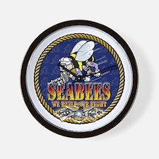 US Navy Seabees Lava Glow Wall Clock