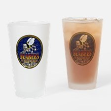 US Navy Seabees Lava Glow Drinking Glass