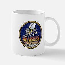 US Navy Seabees Lava Glow Mug