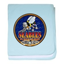 US Navy Seabees Lava Glow baby blanket