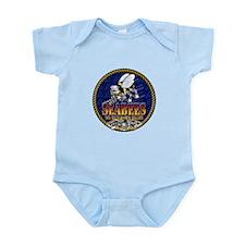 US Navy Seabees Lava Glow Infant Bodysuit