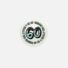 60th birthday, big sixty Mini Button