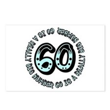60th birthday, big sixty Postcards (Package of 8)