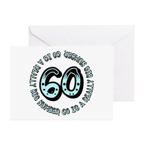 60th birthday, big sixty Greeting Cards (Package o