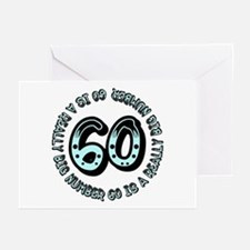 60th birthday, big sixty Greeting Cards (Package o