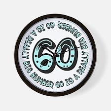 60th birthday, big sixty Wall Clock