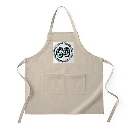 60th birthday, big sixty BBQ Apron