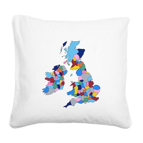 England, Ireland, Scotland Wales Square Canvas Pil
