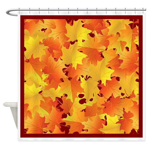 Fall Leaves Shower Curtain By Thethanksgivingshoppe